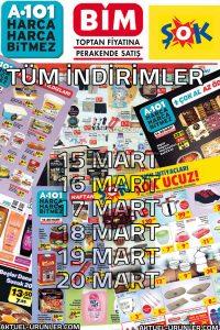 Bim-A101-Şok 15-20 Mart Alışveriş Listesi