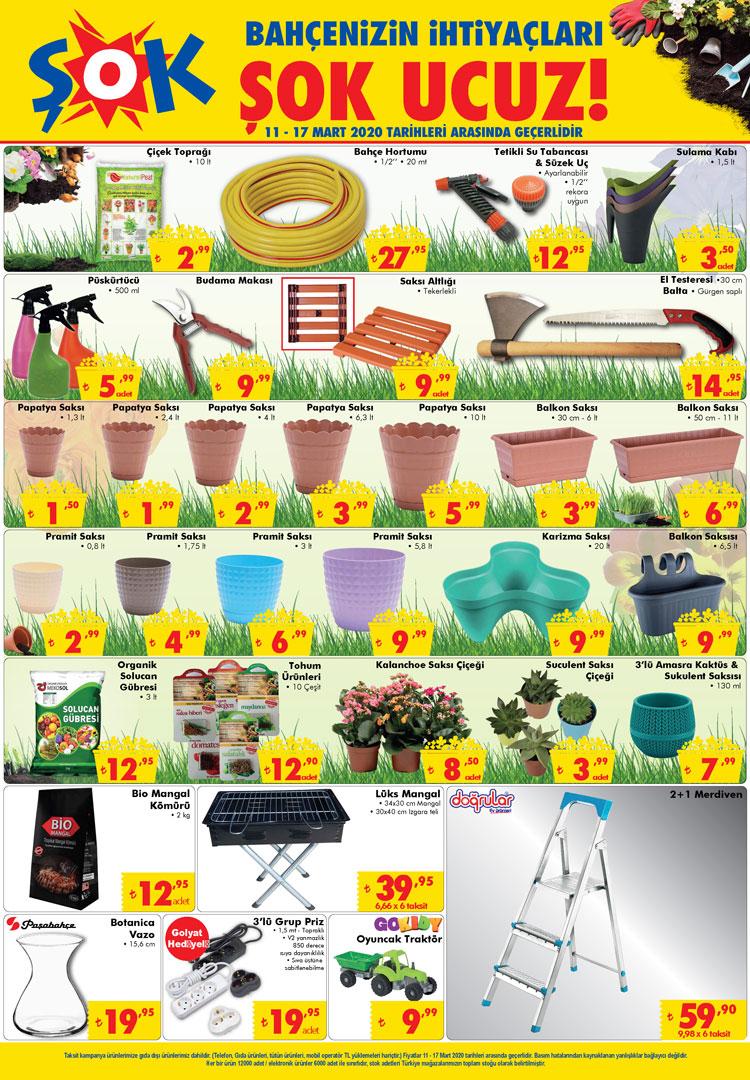 Şok 11 Mart 2020 Aktüel Ürünler Kataloğu Bahçe Kataloğu Açıklandı