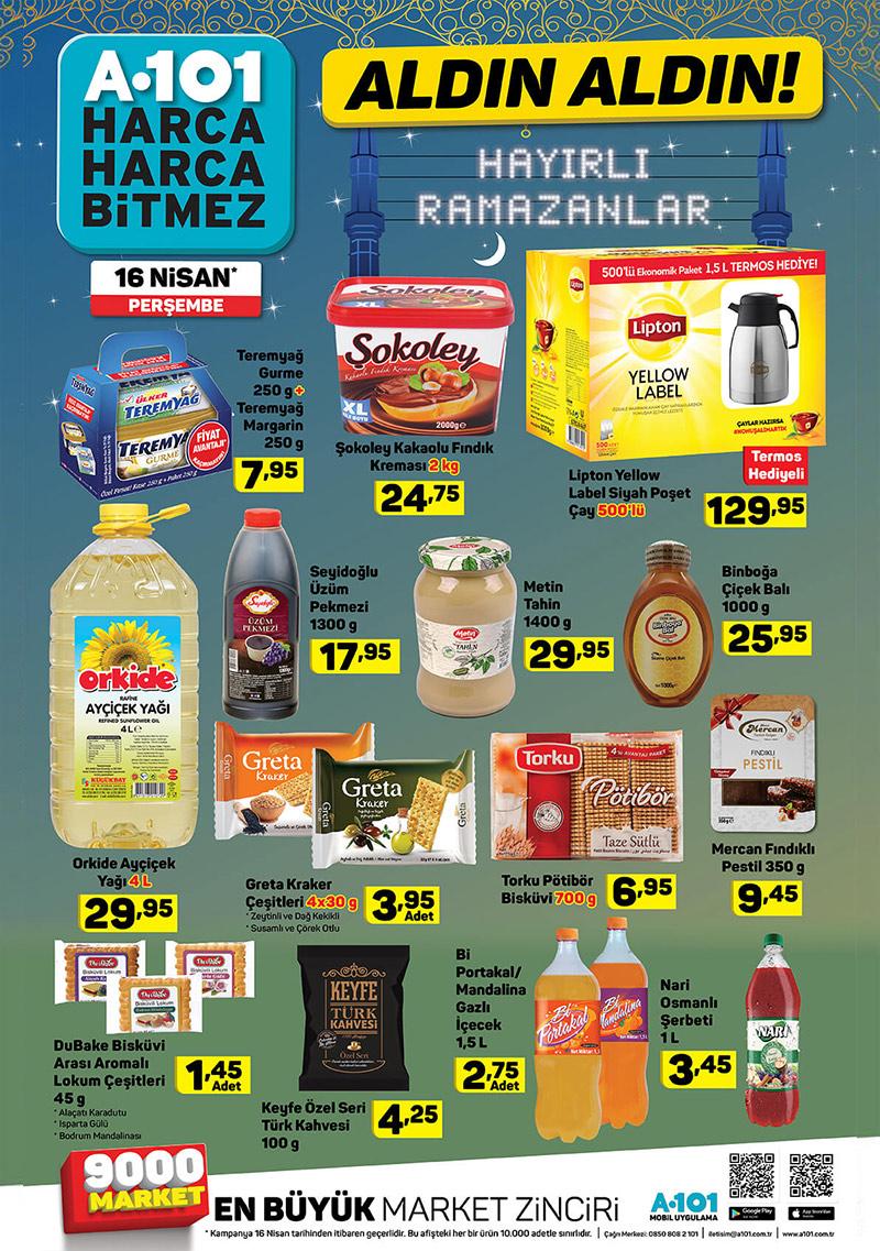 A101 Ramazan Ozel indirimleri 16 nisan 2020