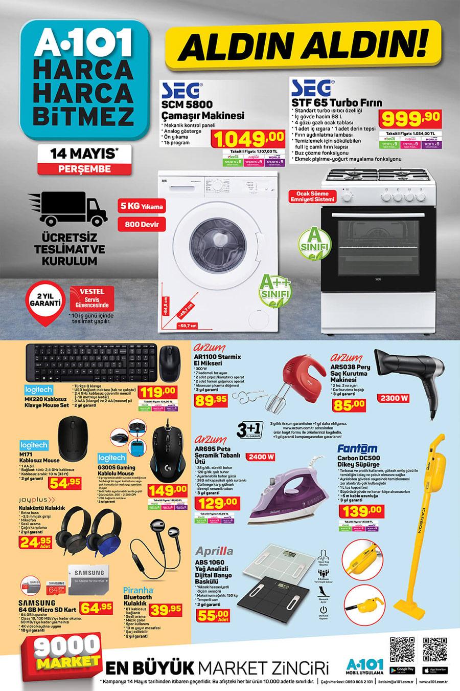 A101 Market 14 Mayıs 2020 Aktüel Ev İhtiyaç Ürünleri