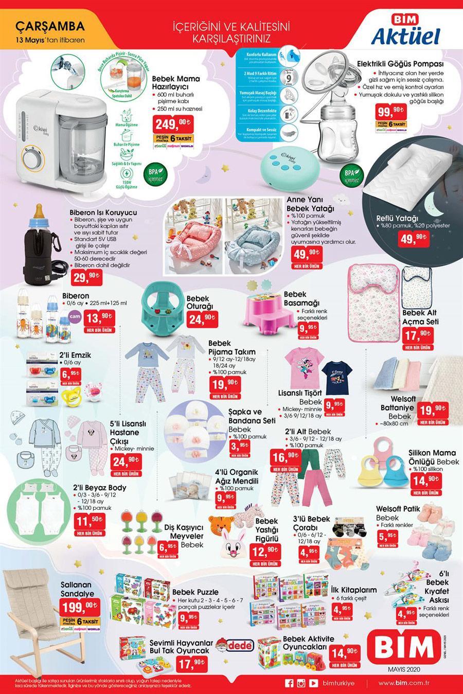 Bim 13 MAYIS 2020 anne-bebek urunleri katalogu revize