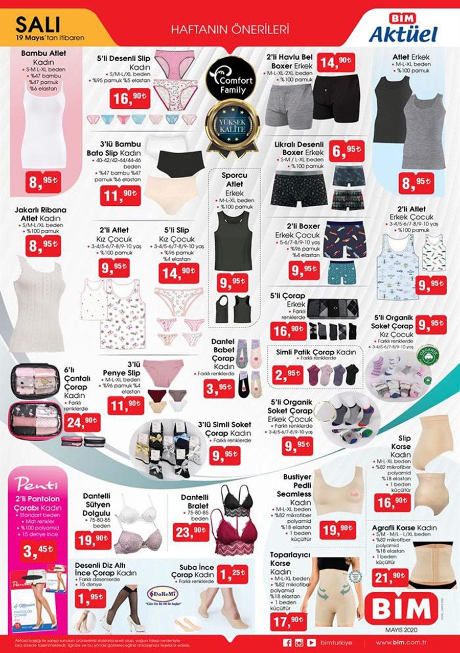 Bim Aktüel 19 Mayıs 2020 Çamaşır Ürünleri