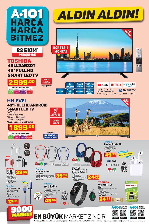 A101 22 Ekim 2020 Aktüel Ürünler Kataloğu Görseli