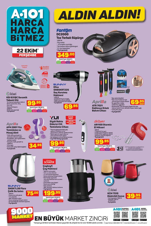A101 Market 22 Ekim 2020 Tarihli Aktüel Ürünlerinden Derlenen Görsel