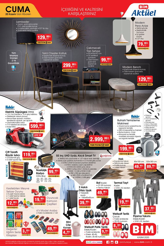 Bim 20 Kasım 2020 AKtüel Ürünler Kataloğu Görseli Orijinal Yeni Sayfa