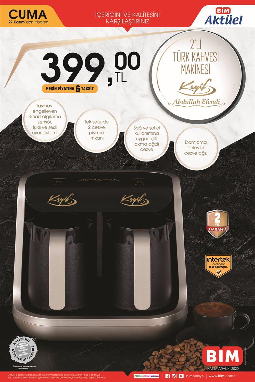 Bim 27 Kasım Kahve Makinesi Ürünü Büyük İndirimi Görseli