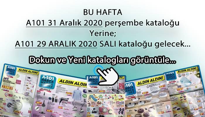 A101 31 ARALIK 2020 KATALOĞU YERİNE A101 29 ARALIK 2020 KATALOĞU SUNULDU.