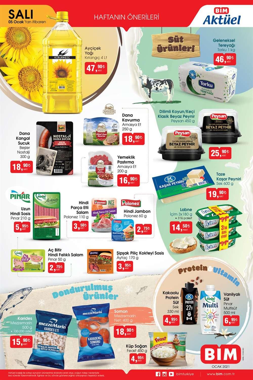 Bim 5 OCAK 2021 Aktüel Ürünleri Gıda Ürünlerinde Büyük Fırsatlar