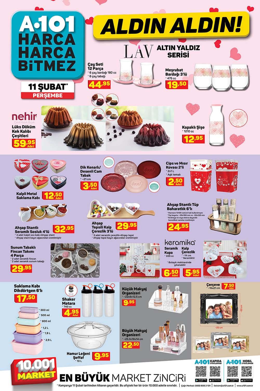 A101 11 Şubat 2021 katalogları 14 Şubat Sevgililer Günü Özel Ürünleri