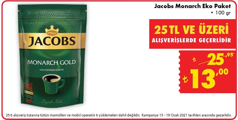 Jacobs Monarch Eko Paket 100 gr