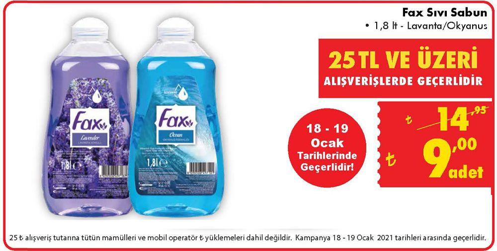 Fax Sıvı Sabun 1.8 Litre