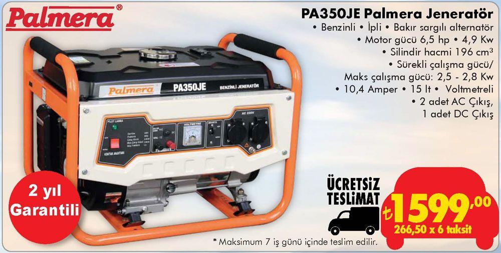 Palmera PA350JE Jeneratör