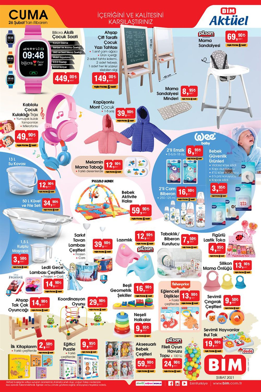 Bim aktüel 26 Şubat 2021 bebek ürünleri kataloğu