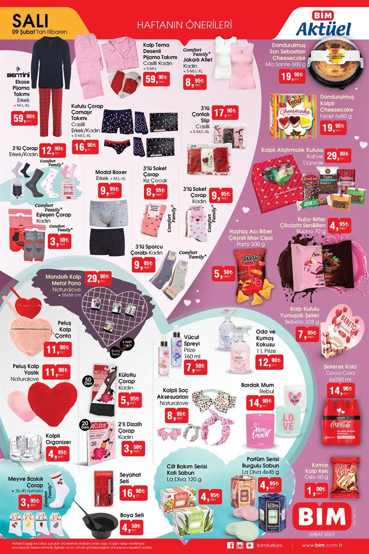 Bim 9 Şubat 2021 Kataloğu Sevgililer Günü Özel Sayfası 14 Şubat Özel Ürünleri ve Etkinlikleri