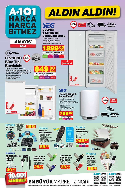 A101 4 Mayıs 2021 AKTÜEL ÜRÜNLER KATALOĞU 2. Sayfa