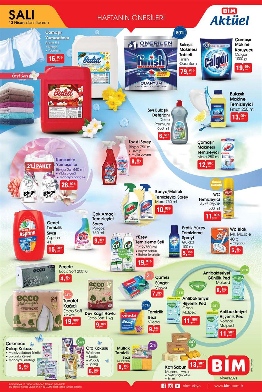 Bim 13 Nisan 2021 Aktüel Ürünler Salı Kataloğu Görseli 2. Sayfa