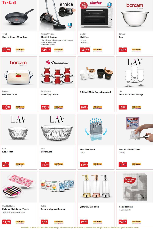 BİM 23 NİSAN 2021 Aktüel Ürünler Kataloğu Görseli 3. Sayfa