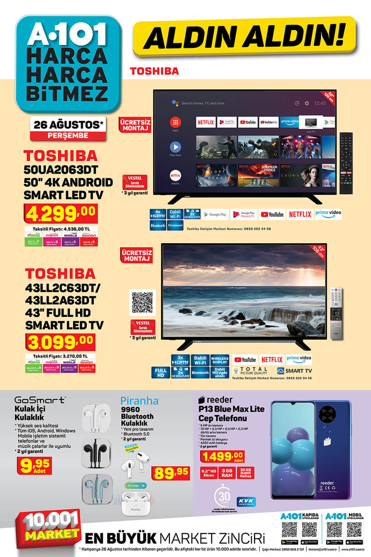 A101 26 Ağustos 2021 Elektronik Ürünler TV Fırsatları