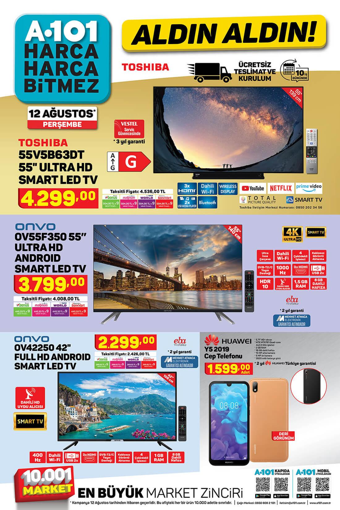 A101 12 Ağustos 2021 Aktüel Katalog Orijinal Broşürü TV fırsatları