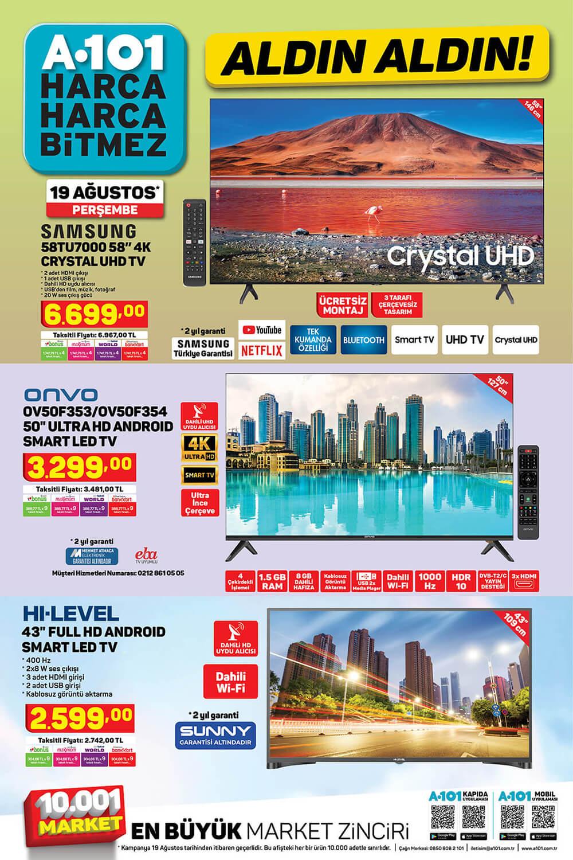 A101 19 Ağustos 2021 Aktüel Ürünler Kataloğu - TV fırsatları