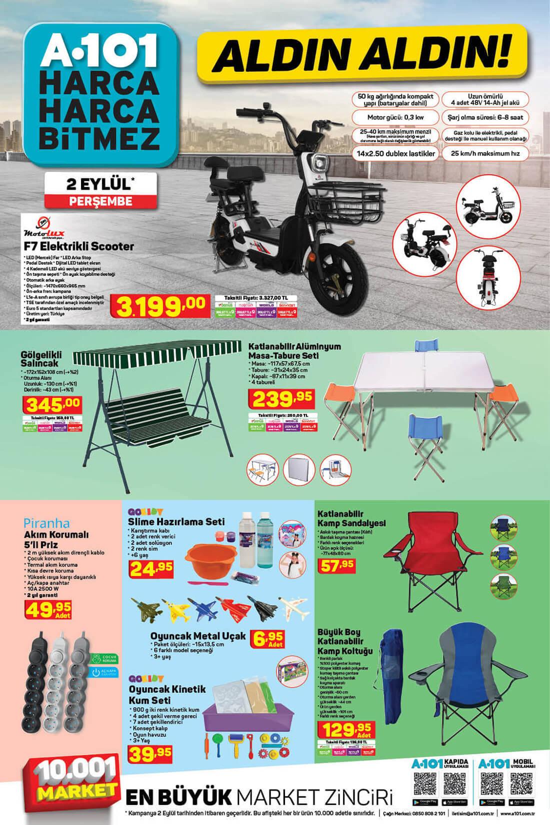 A101 2 Eylül Perşembe Spot Ürünler