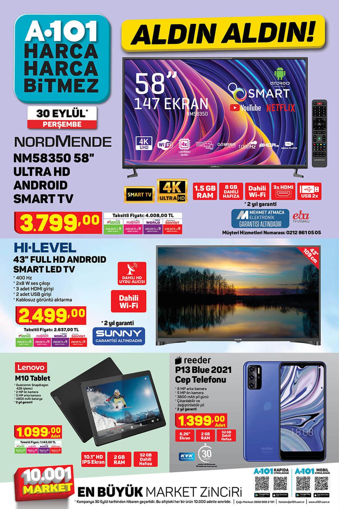 A101 30 Eylül 2021 Aktüel Ürünler Kataloğu Orijinal