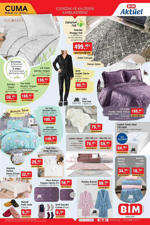 Bim 8 Ekim 2021 Çeyiz Ürünleri Kataloğu Ev Tekstili Fırsatları